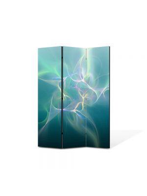 Paravan de Camera ArtDeco din 3 Panouri Abstract Decorativ Descarcari electrice 105 x 150 cm