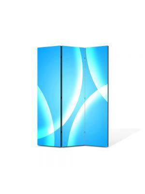 Paravan de Camera ArtDeco din 3 Panouri Abstract Decorativ Bule albastre 105 x 150 cm
