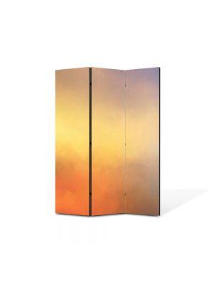 Paravan de Camera ArtDeco din 3 Panouri Abstract Decorativ Apus in cer 105 x 150 cm