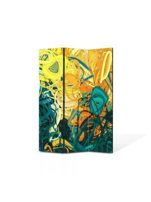 Paravan de Camera ArtDeco din 3 Panouri Abstract Decorativ Nuante pastelate 105 x 150 cm