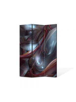 Paravan de Camera ArtDeco din 3 Panouri Abstract Decorativ Plasma 105 x 150 cm