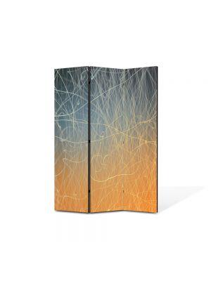 Paravan de Camera ArtDeco din 3 Panouri Abstract Decorativ Tabla zgariata 135 x 180 cm