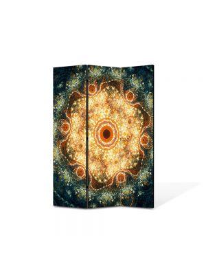 Paravan de Camera ArtDeco din 3 Panouri Abstract Decorativ Candelabre 105 x 150 cm