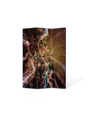 Paravan de Camera ArtDeco din 3 Panouri Abstract Decorativ Spre alta galaxie 105 x 150 cm