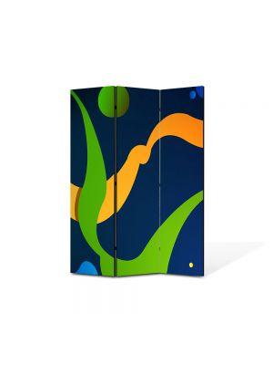 Paravan de Camera ArtDeco din 3 Panouri Abstract Decorativ De basm 105 x 150 cm