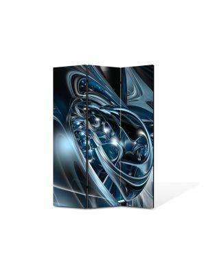 Paravan de Camera ArtDeco din 3 Panouri Abstract Decorativ Metal topit 105 x 150 cm