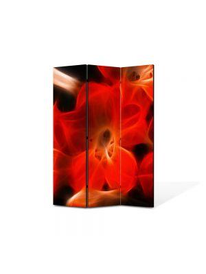 Paravan de Camera ArtDeco din 3 Panouri Abstract Decorativ Floare abstracta 105 x 150 cm