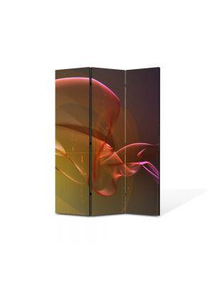 Paravan de Camera ArtDeco din 3 Panouri Abstract Decorativ Pe fundul oceanului 105 x 150 cm