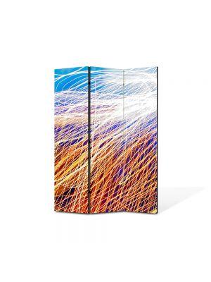 Paravan de Camera ArtDeco din 3 Panouri Abstract Decorativ Plasa de lumina 105 x 150 cm