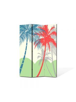 Paravan de Camera ArtDeco din 3 Panouri Abstract Decorativ Palmieri 105 x 150 cm