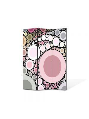 Paravan de Camera ArtDeco din 3 Panouri Abstract Decorativ Margele 105 x 150 cm