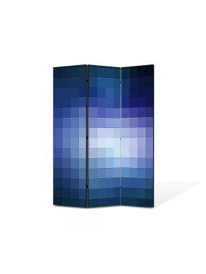 Paravan de Camera ArtDeco din 3 Panouri Abstract Decorativ Lumina pixelata 105 x 150 cm