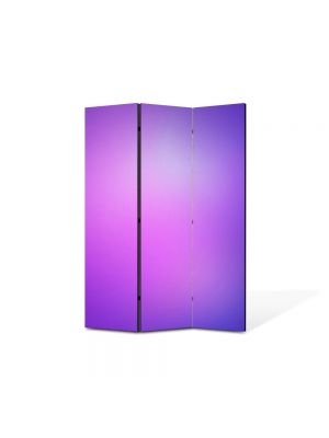 Paravan de Camera ArtDeco din 3 Panouri Abstract Decorativ Mov 105 x 150 cm