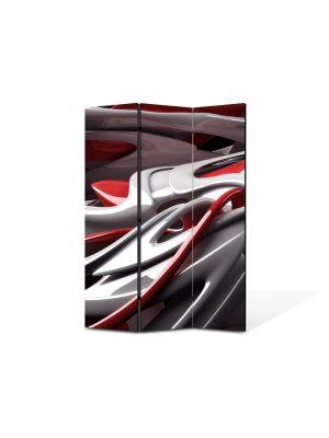 Paravan de Camera ArtDeco din 3 Panouri Abstract Decorativ De plastic 105 x 150 cm