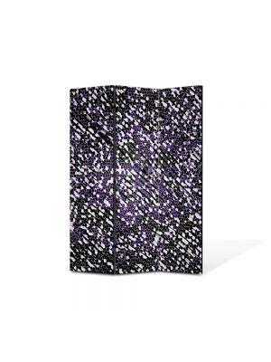 Paravan de Camera ArtDeco din 3 Panouri Abstract Decorativ Ploaie de stele 135 x 180 cm