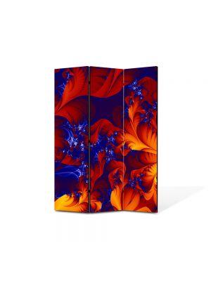 Paravan de Camera ArtDeco din 3 Panouri Abstract Decorativ Petale 105 x 150 cm