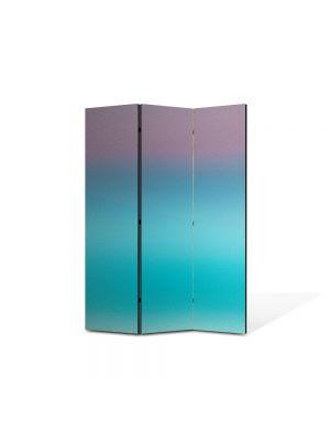 Paravan de Camera ArtDeco din 3 Panouri Abstract Decorativ Turcuaz 135 x 180 cm