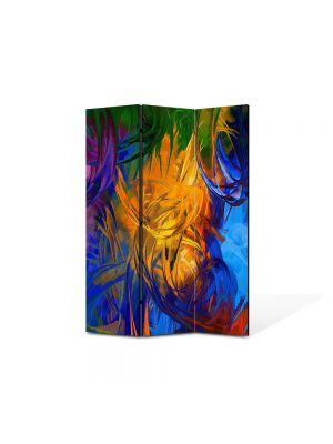 Paravan de Camera ArtDeco din 3 Panouri Abstract Decorativ Fulgi 105 x 150 cm