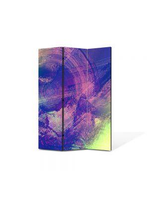 Paravan de Camera ArtDeco din 3 Panouri Abstract Decorativ Sters 105 x 150 cm