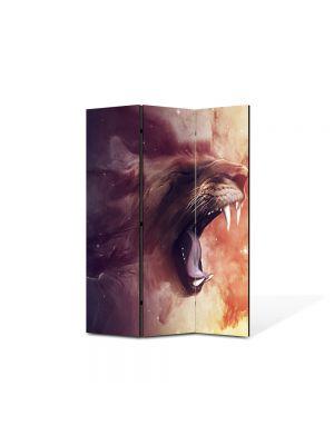 Paravan de Camera ArtDeco din 3 Panouri Abstract Decorativ Furie 105 x 150 cm
