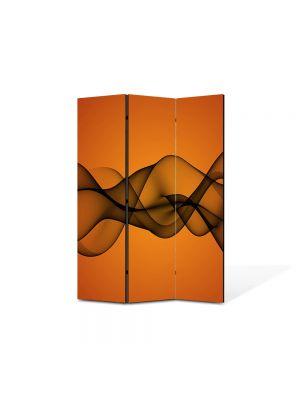 Paravan de Camera ArtDeco din 3 Panouri Abstract Decorativ Unde de fum 105 x 150 cm