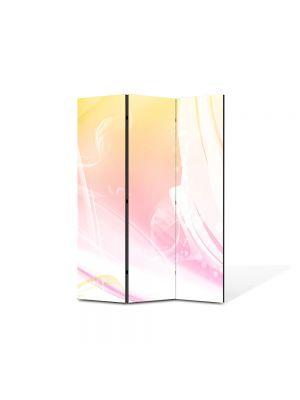 Paravan de Camera ArtDeco din 3 Panouri Abstract Decorativ Decolorat 105 x 150 cm