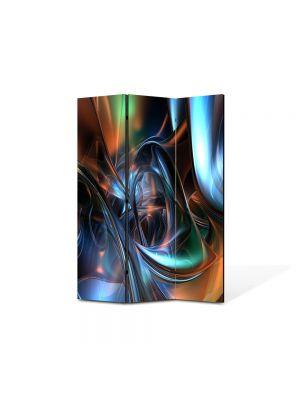 Paravan de Camera ArtDeco din 3 Panouri Abstract Decorativ Arta plastica 105 x 150 cm
