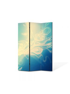 Paravan de Camera ArtDeco din 3 Panouri Abstract Decorativ Zana 105 x 150 cm