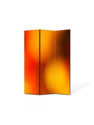 Paravan de Camera ArtDeco din 3 Panouri Abstract Decorativ Caldura 105 x 150 cm
