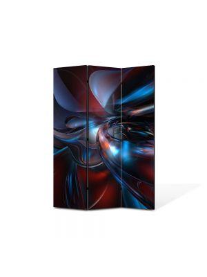 Paravan de Camera ArtDeco din 3 Panouri Abstract Decorativ Fizica 105 x 150 cm