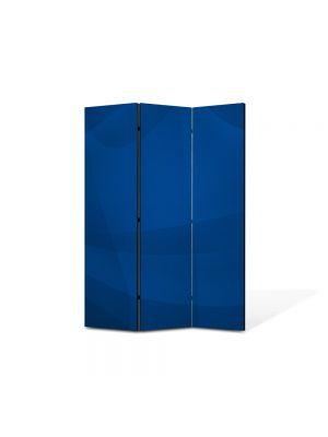 Paravan de Camera ArtDeco din 3 Panouri Abstract Decorativ Vartej albastru 105 x 150 cm