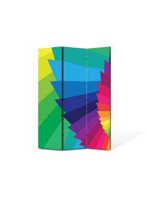 Paravan de Camera ArtDeco din 3 Panouri Abstract Decorativ Elicoidal 105 x 150 cm