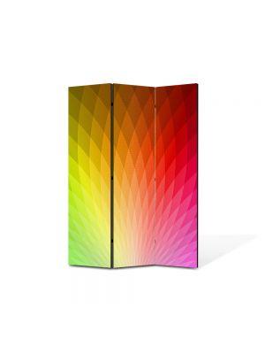 Paravan de Camera ArtDeco din 3 Panouri Abstract Decorativ Cromatica 135 x 180 cm
