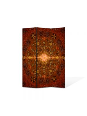 Paravan de Camera ArtDeco din 3 Panouri Abstract Decorativ India 105 x 150 cm