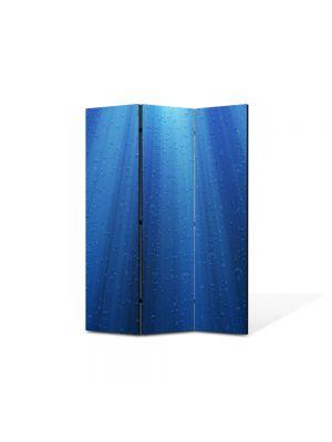 Paravan de Camera ArtDeco din 3 Panouri Abstract Decorativ Raze de lumina sub apa 105 x 150 cm