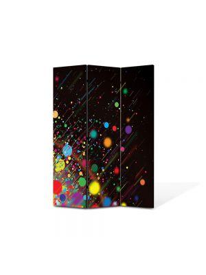 Paravan de Camera ArtDeco din 3 Panouri Abstract Decorativ Stropi de culoare 105 x 150 cm