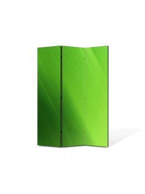 Paravan de Camera ArtDeco din 3 Panouri Abstract Decorativ Verde 105 x 150 cm