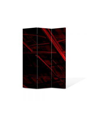 Paravan de Camera ArtDeco din 3 Panouri Abstract Decorativ Schele 105 x 150 cm