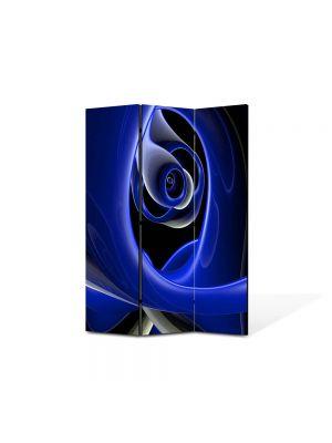 Paravan de Camera ArtDeco din 3 Panouri Abstract Decorativ Negura 135 x 180 cm