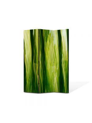 Paravan de Camera ArtDeco din 3 Panouri Abstract Decorativ In jungla 105 x 150 cm