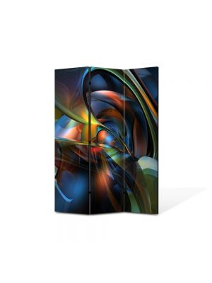 Paravan de Camera ArtDeco din 3 Panouri Abstract Decorativ Nuante 105 x 150 cm