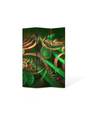Paravan de Camera ArtDeco din 3 Panouri Abstract Decorativ Colaj 135 x 180 cm