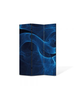 Paravan de Camera ArtDeco din 3 Panouri Abstract Decorativ Fum 105 x 150 cm