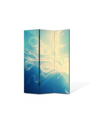 Paravan de Camera ArtDeco din 3 Panouri Abstract Decorativ Luminozitate 105 x 150 cm