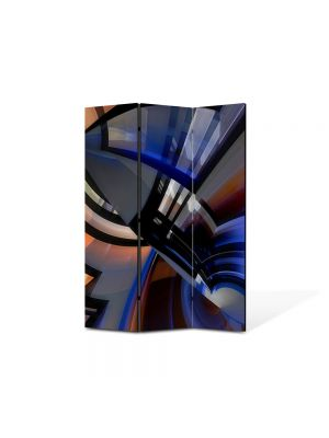 Paravan de Camera ArtDeco din 3 Panouri Abstract Decorativ Robot 135 x 180 cm