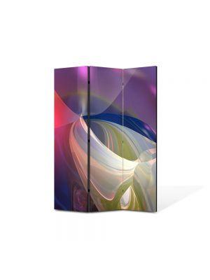 Paravan de Camera ArtDeco din 3 Panouri Abstract Decorativ Lumini blande 105 x 150 cm