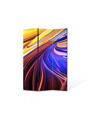 Paravan de Camera ArtDeco din 3 Panouri Abstract Decorativ Forme abstracte 105 x 150 cm