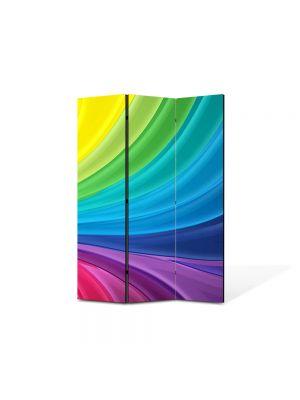 Paravan de Camera ArtDeco din 3 Panouri Abstract Decorativ Spectru luminos 105 x 150 cm