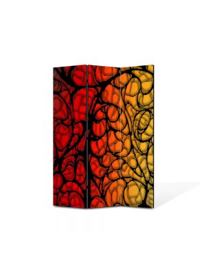 Paravan de Camera ArtDeco din 3 Panouri Abstract Decorativ Natura 105 x 150 cm