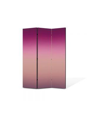 Paravan de Camera ArtDeco din 3 Panouri Abstract Decorativ Nuante de violet 105 x 150 cm